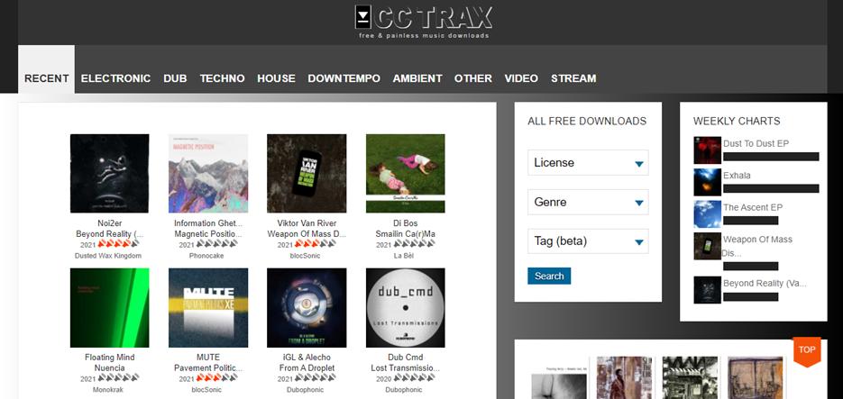 CCTrax homepage