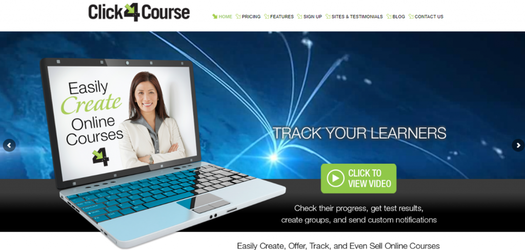 Click Four Course homepage