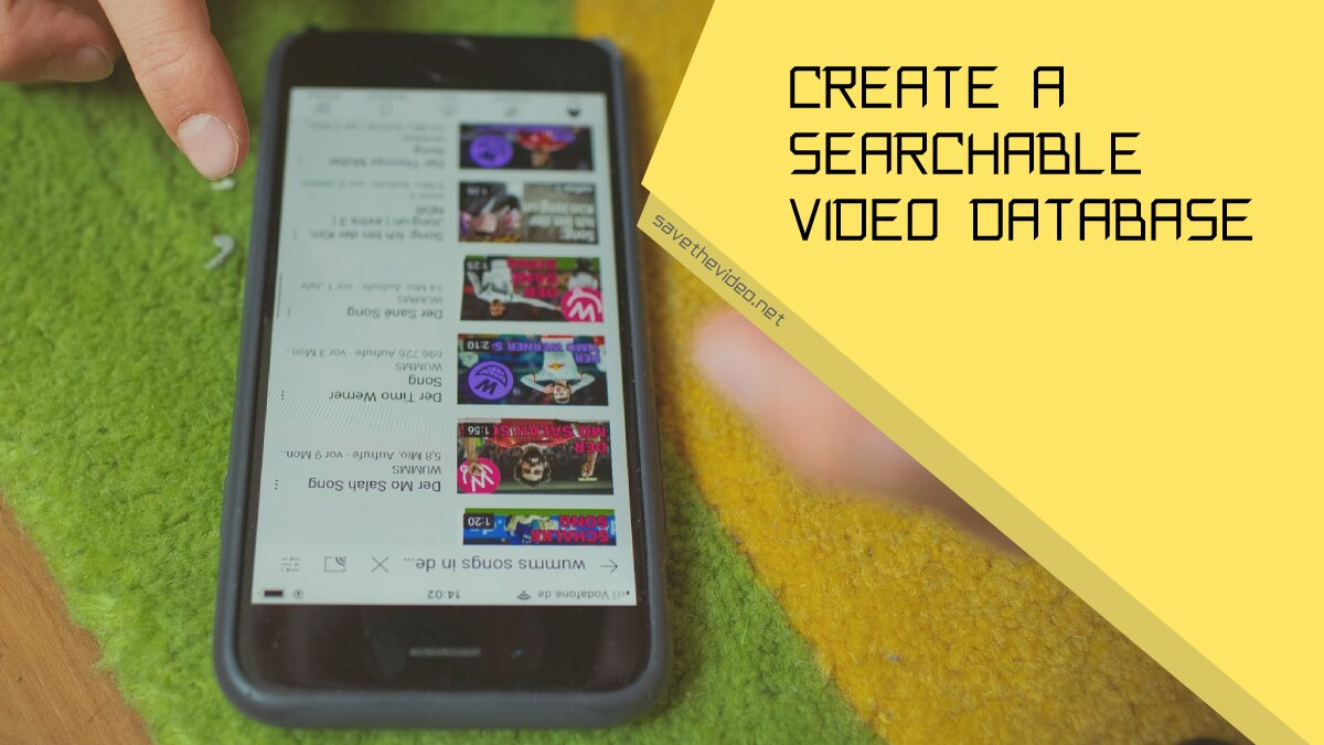 Create a searchable video database