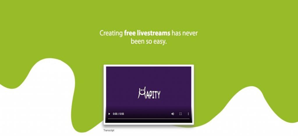 Hapity homepage
