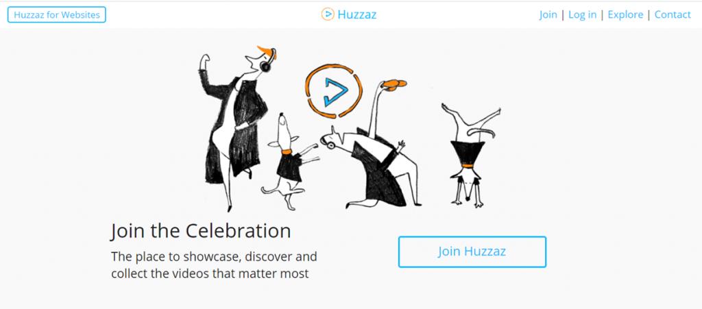 Huzzaz homepage