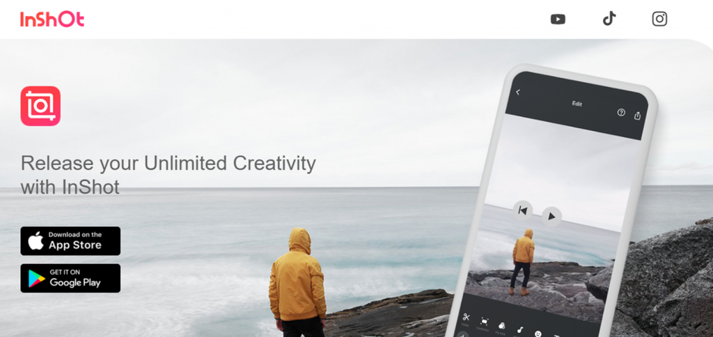 InShot homepage