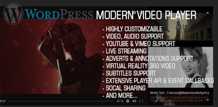 Modern Video Player homepage
