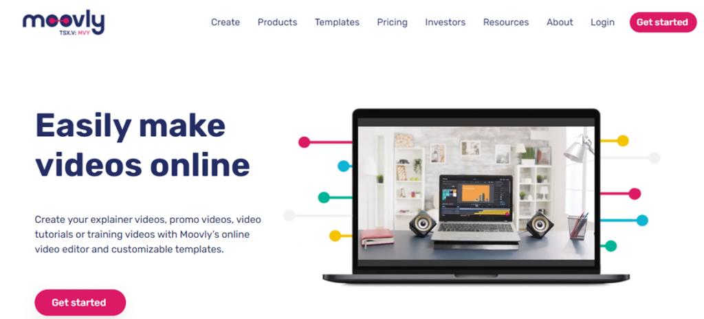 Moovly homepage