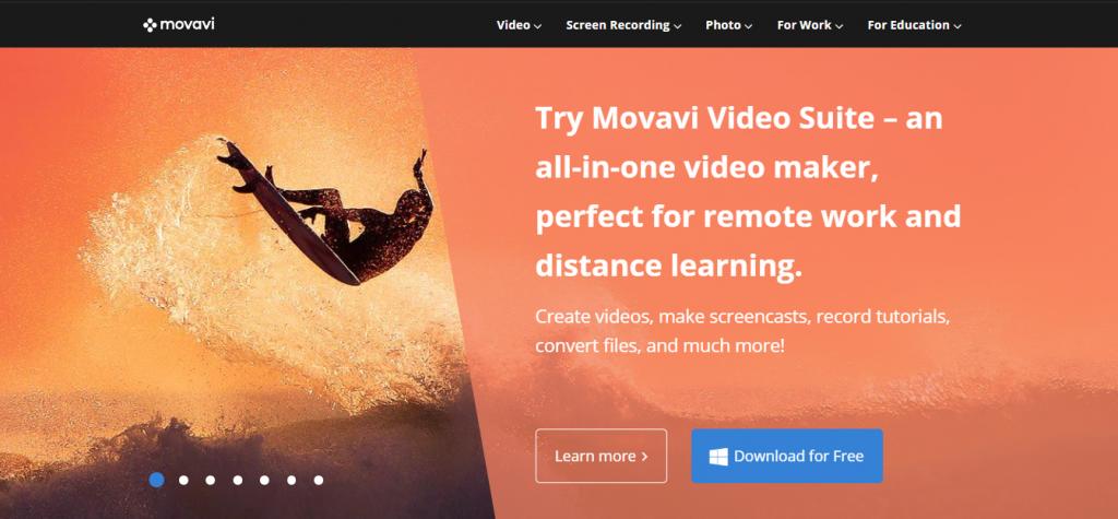 Movavi homepage