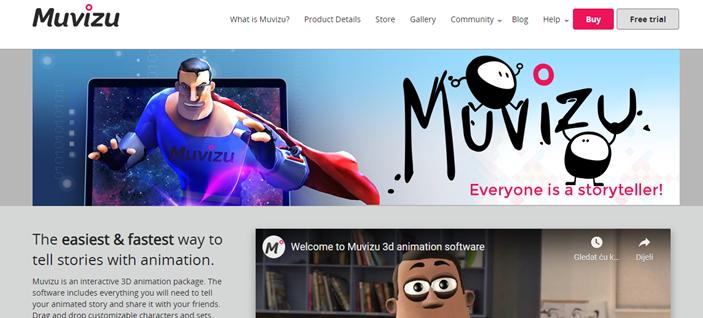 Muvizu homepage
