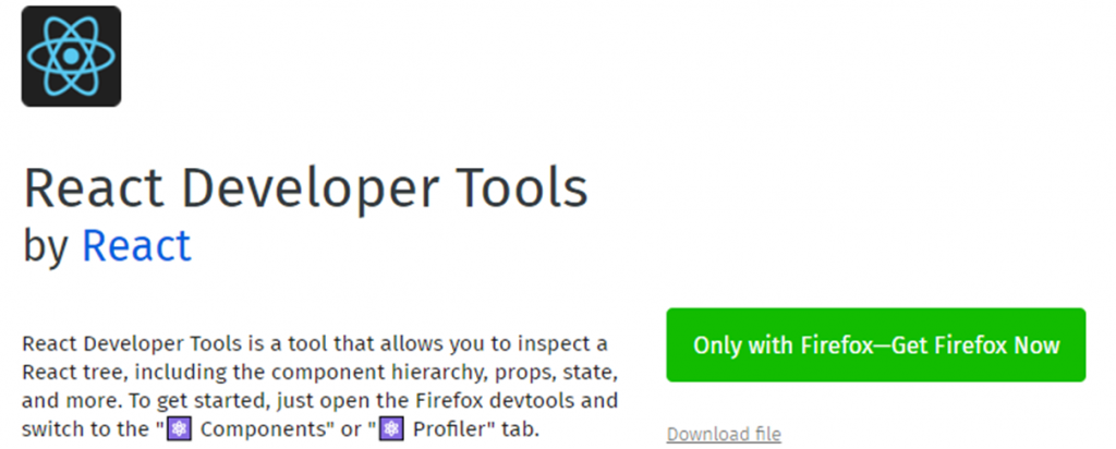 React Developer Tools icon and name