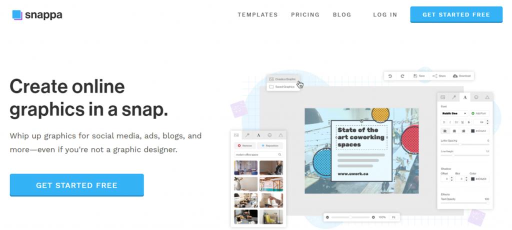 Snappa homepage