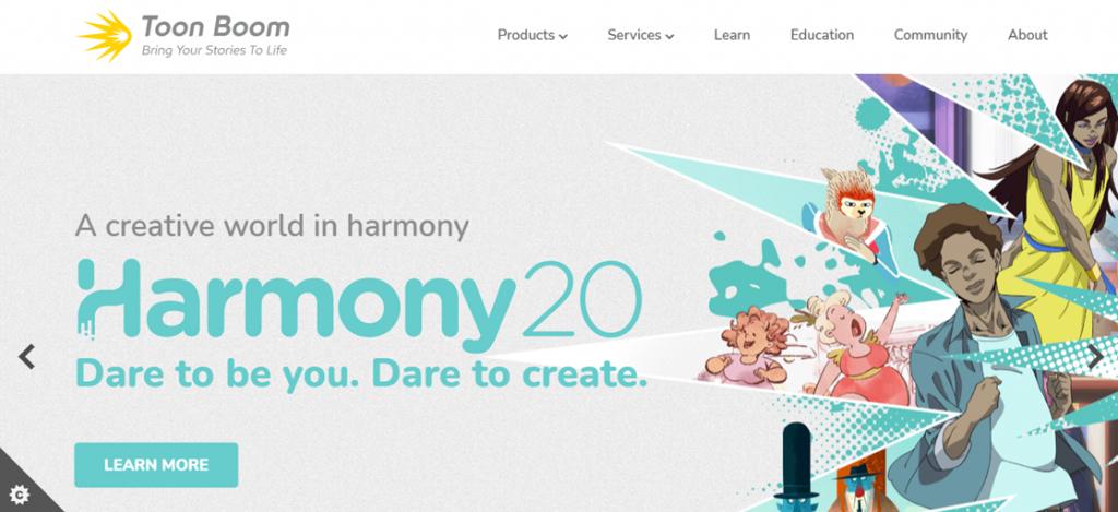Toon Boom homepage