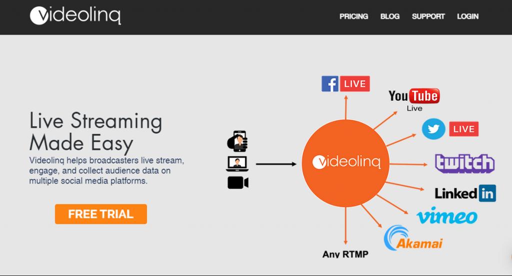 Videolinq homepage