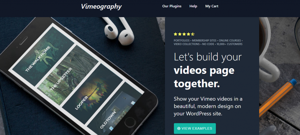 Vimeography homepage