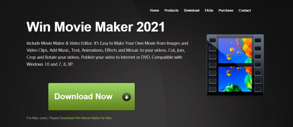 Windows Movie Maker homepage