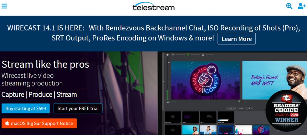 Wirecast on Telestream