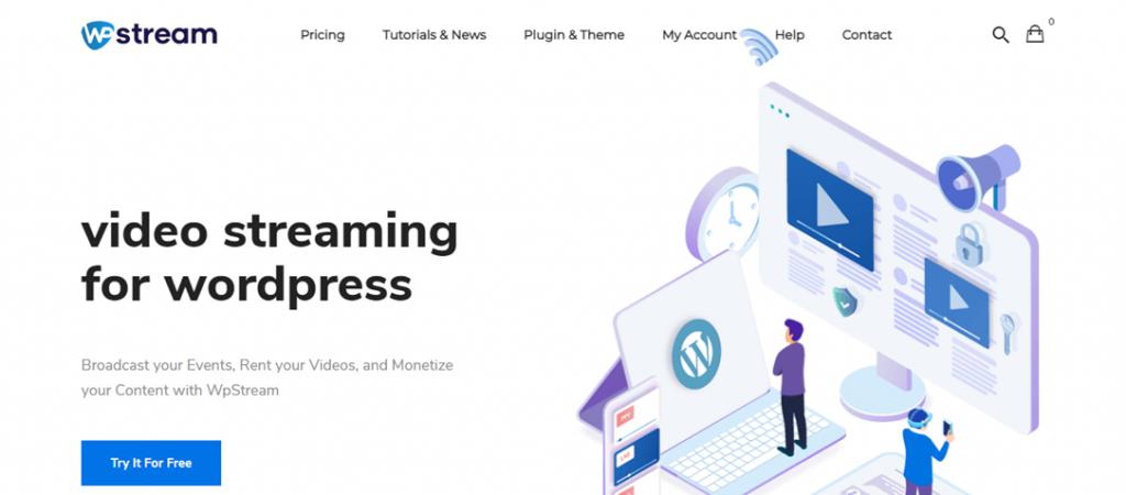WPStream homepage