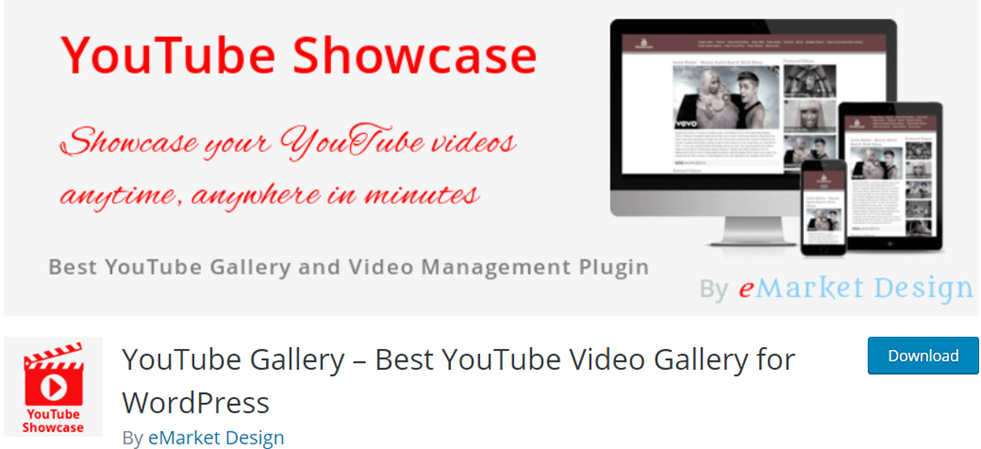 Youtube Gallery for WP banner