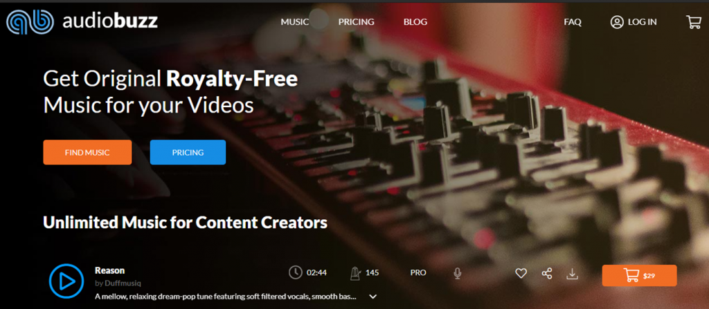Audio Buzz homepage