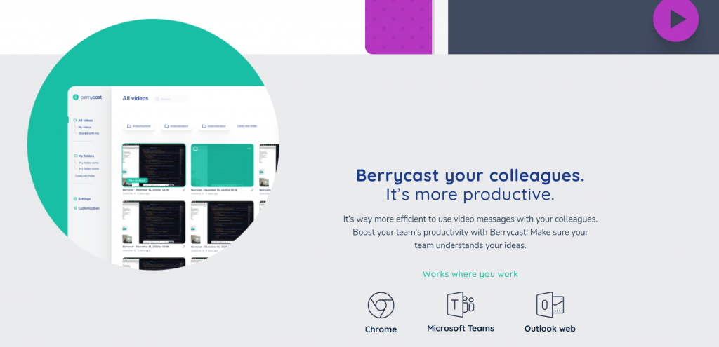BerryCast features