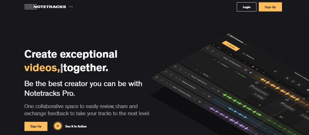 Notetracks Pro homepage