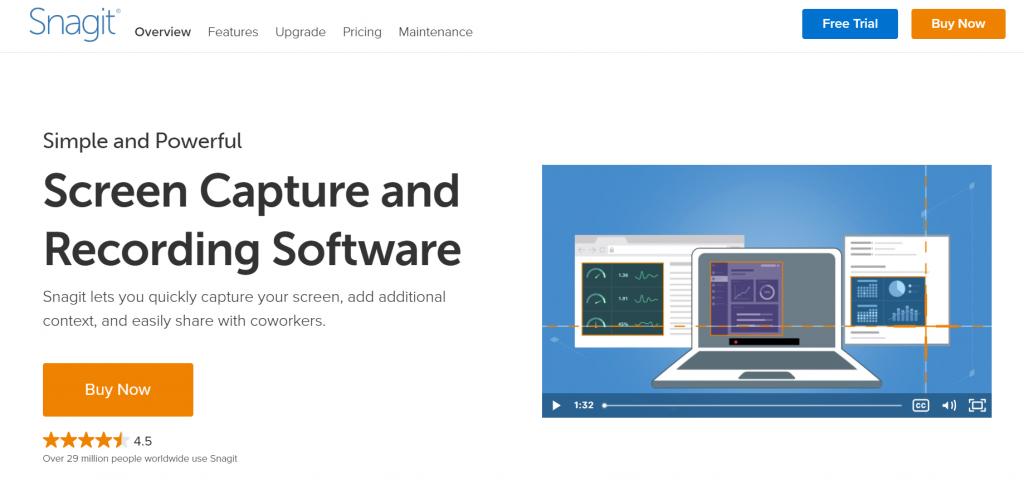 Snagit homepage