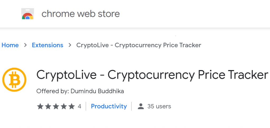 CryptoLive icon and name