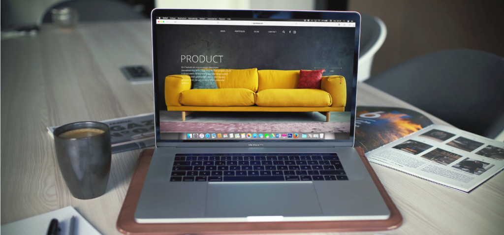 Image of couch on screen