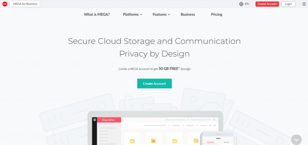 MEGA homepage