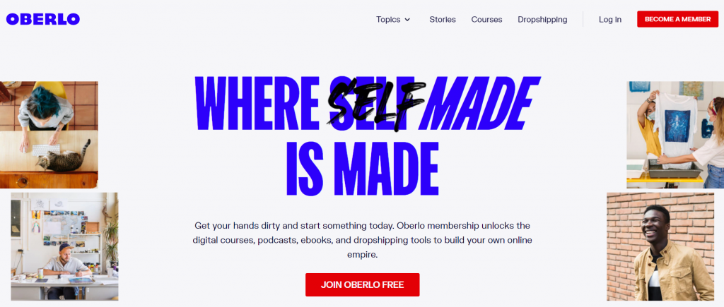 Oberlo homepage