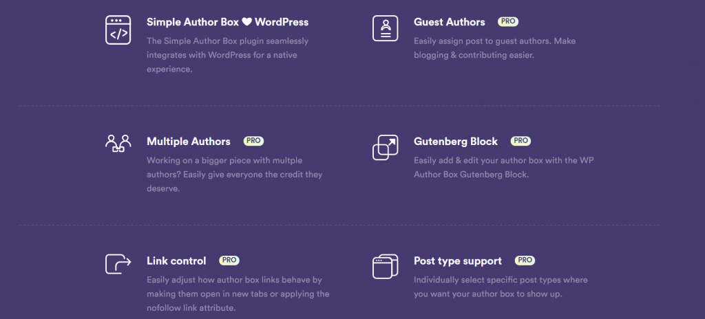 Simple Author Box features