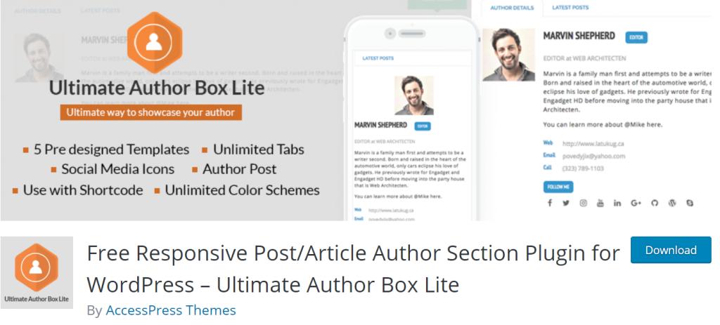 Ultimate Author Box Litebanner