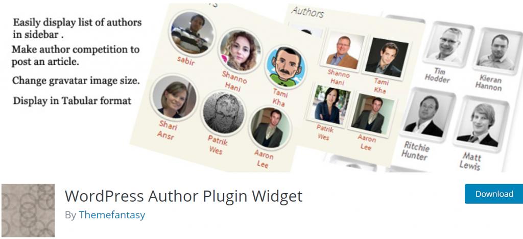 WP Auhtor Plugin Widget banner