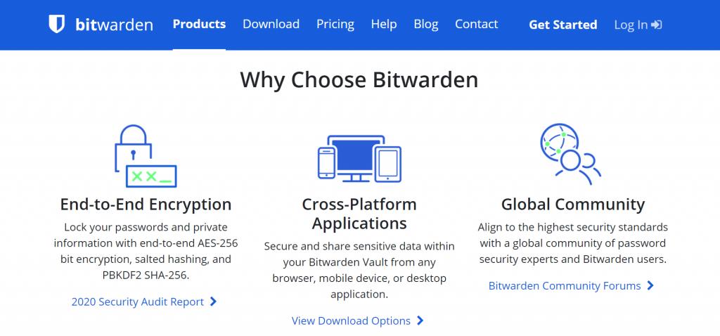 Bitwarden features