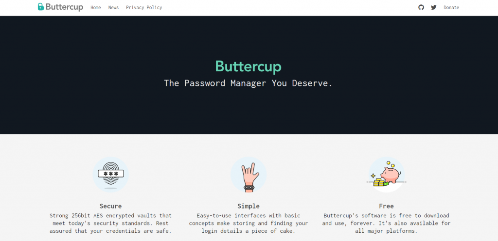 Buttercup homepage