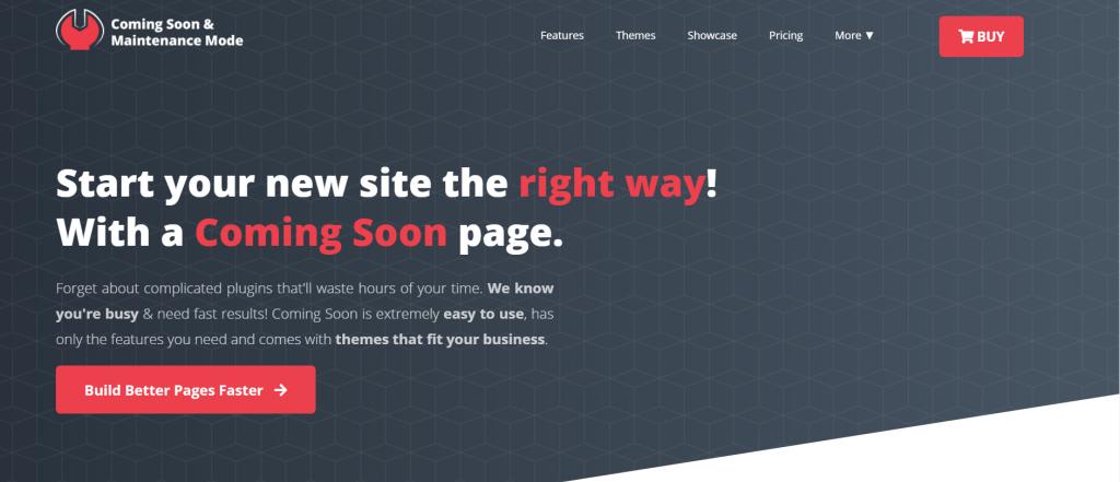 Coming Soon and Maintanance Mode homepage