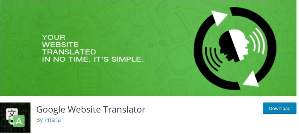 Google Website Translator banner