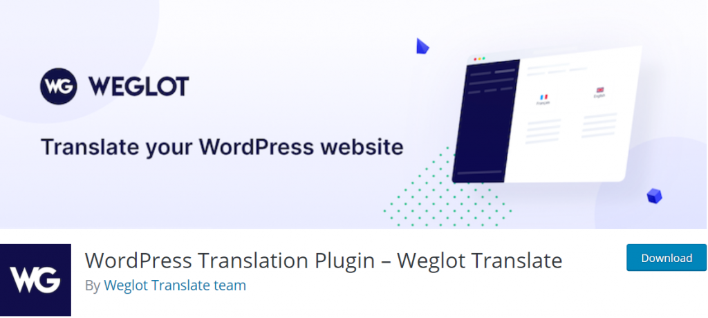 Weglot Translate banner