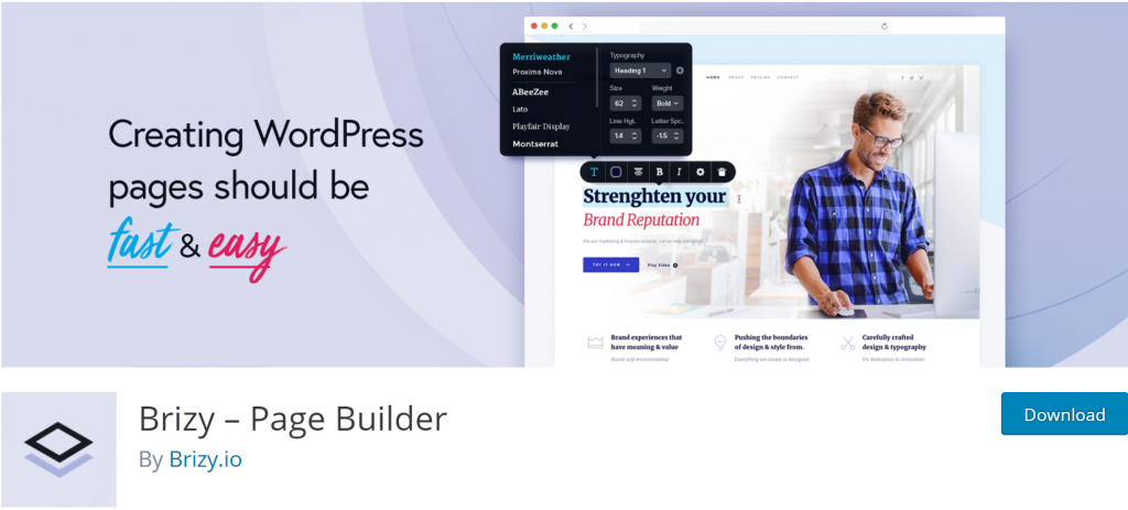 Brizy Page Builder banner