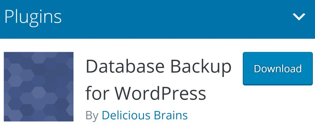 Database Backup for WordPress banner