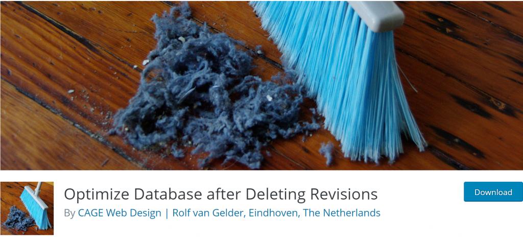 Optimize Database after Deleting Revisions banner