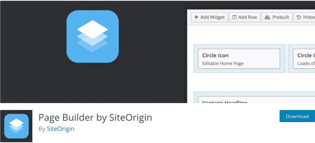 Page Builder By SiteOrigin banner