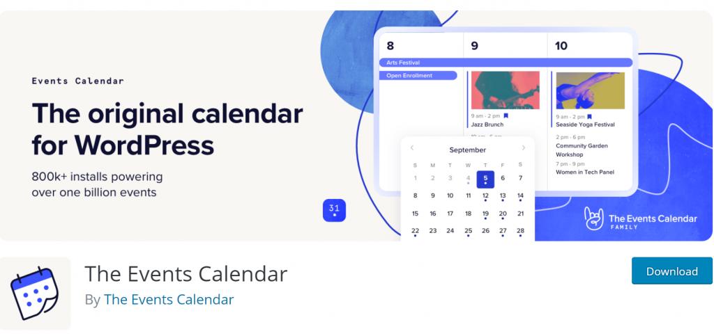 The Events Calendar banner