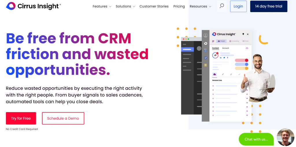 Cirrus Insight homepage