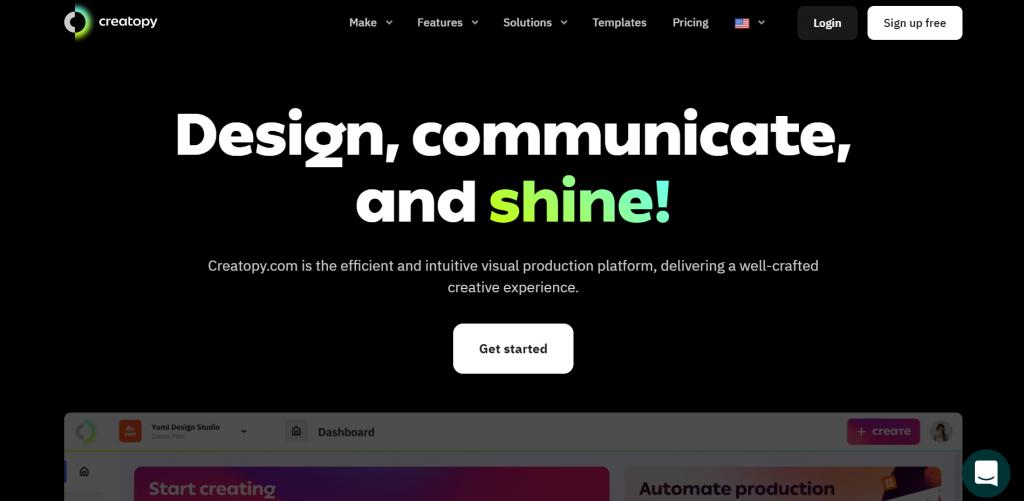 Creatopy homepage