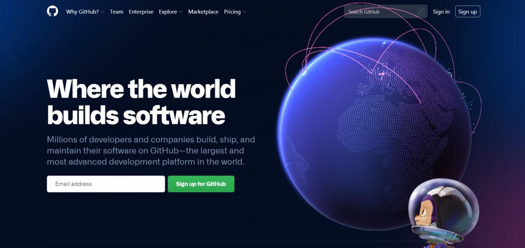 GitHub homepage