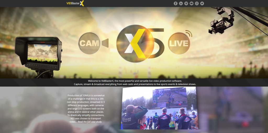 VidBlasterX homepage
