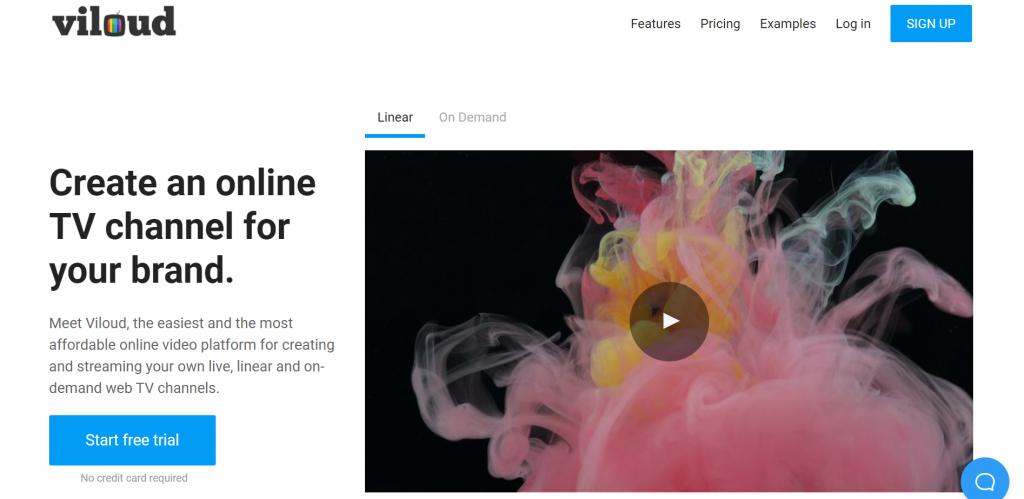 Viloud homepage