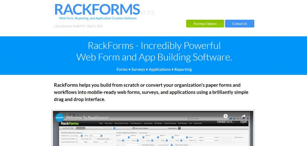 RackForms homepage