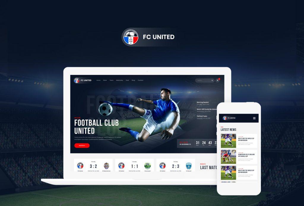 FC United football theme website