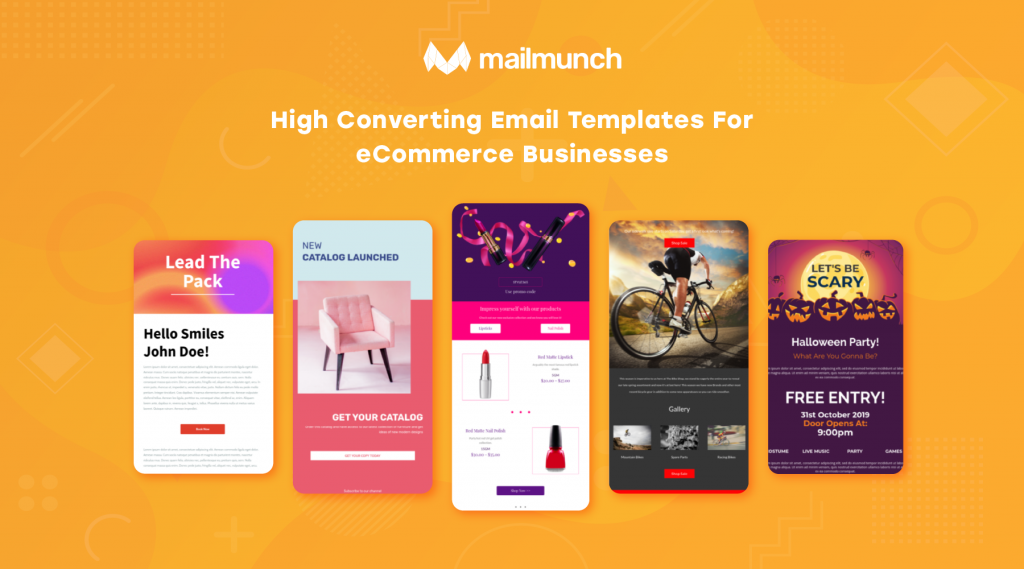 Free email templates for your e-commerce business