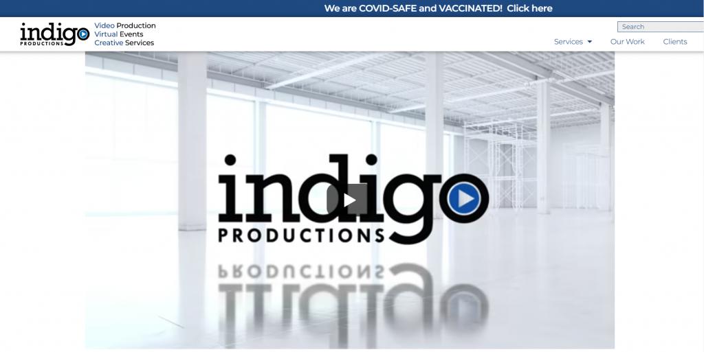 Indigo Productions homepage