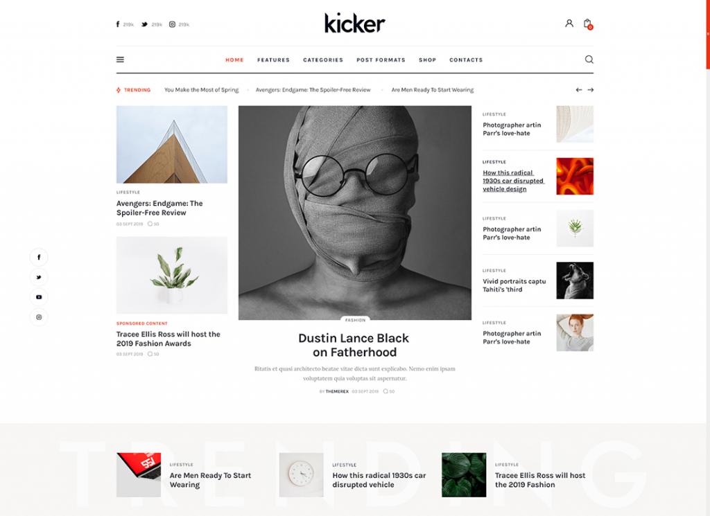 Kicker website